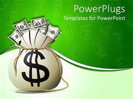 PowerPlugs: PowerPoint template with a bag full of Money