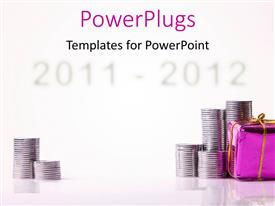 PowerPlugs: PowerPoint template with a number of coins with a gift hamper