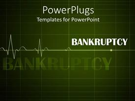 PowerPlugs: PowerPoint template with a bankruptcy representation with heartbeat line
