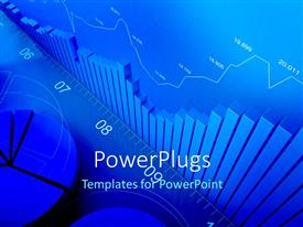 PowerPlugs: PowerPoint template with bar chart, line chart and pie chart plot of financial data