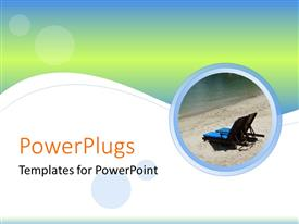 PowerPlugs: PowerPoint template with beach chairs in circle with lime and white background