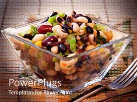 PowerPlugs: PowerPoint template with bean salad in clear square bowl