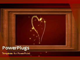 PowerPoint template displaying a beautiful abstract background including a heart and place for text