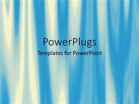 PowerPlugs: PowerPoint template with beautiful abstract design of yellow and blue forming wavy pattern