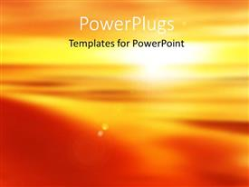 PowerPoint template displaying beautiful abstract sunset with colors