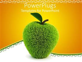 PowerPlugs: PowerPoint template with a beautiful apple filled with fur in a 3D form
