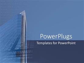 PowerPlugs: PowerPoint template with beautiful architectural design of glass building rising high to sky