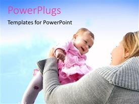 PowerPlugs: PowerPoint template with a mother playing with her child