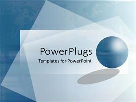 PowerPlugs: PowerPoint template with a beautiful background with a circle and place for text in front