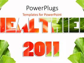 PowerPlugs: PowerPoint template with a beautiful background related to vegetables and heath in 2011