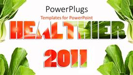 PowerPoint template displaying a beautiful background related to vegetables and heath in 2011