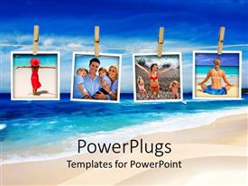 PowerPoint template displaying beautiful beach on the NSW coastline