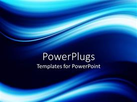 PowerPlugs: PowerPoint template with a beautiful blue background with place for text in the middle