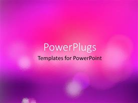 PowerPlugs: PowerPoint template with beautiful blurred bokeh lights with colors