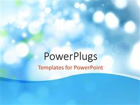 PowerPlugs: PowerPoint template with beautiful bokeh effect with blue color
