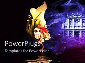 PowerPlugs: PowerPoint template with a beautiful sketch with building in the background