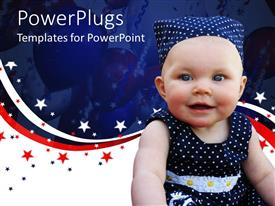 PowerPlugs: PowerPoint template with a beautiful child along with balloons in the background