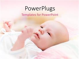 PowerPlugs: PowerPoint template with a beautiful child with pinkish background