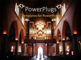 PowerPlugs: PowerPoint template with a beautiful church with a number of lights