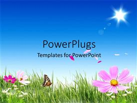 PowerPlugs: PowerPoint template with a beautiful day time view of a natural landscape