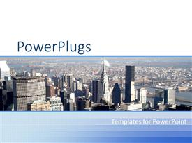 PowerPlugs: PowerPoint template with a beautiful depiction of a background of a metropolitan city