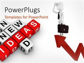 PowerPlugs: PowerPoint template with a beautiful depiction of boxes creating the word new ideas