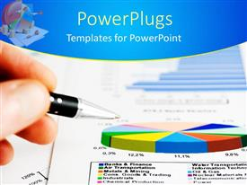 PowerPlugs: PowerPoint template with a beautiful depiction of a business report along with a pen