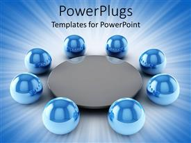 PowerPlugs: PowerPoint template with a beautiful depiction  of circles around a table
