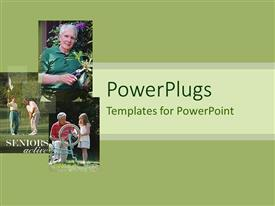 PowerPlugs: PowerPoint template with a beautiful depiction of a family doing various activities