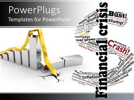 PowerPlugs: PowerPoint template with a beautiful depiction of finance related text and graph