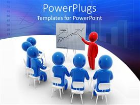 PowerPlugs: PowerPoint template with a beautiful depiction of a meeting room of an organization