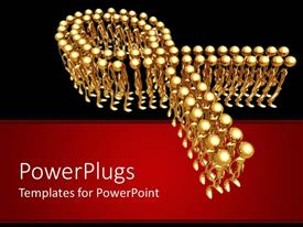 PowerPlugs: PowerPoint template with a beautiful depiction of a number of figures together with a red and black background