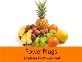 PowerPlugs: PowerPoint template with a beautiful depiction of a number of fruits together