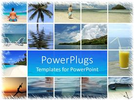 PowerPlugs: PowerPoint template with a beautiful depiction of a number of refreshing places