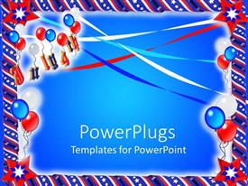 PowerPoint template displaying a beautiful depiction of part related stuff with bluish background