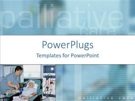 PowerPlugs: PowerPoint template with a beautiful depiction of a patient with a doctor and their reflection