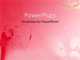 PowerPlugs: PowerPoint template with a beautiful depiction of pinkish background with a heart structure