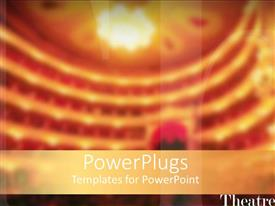 PowerPlugs: PowerPoint template with a beautiful depiction of a theater in the background