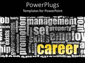 PowerPlugs: PowerPoint template with a beautiful depiction of various kind of text making the theme