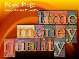 PowerPlugs: PowerPoint template with a beautiful depiction of various tiles creating words with beautiful background