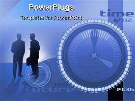 PowerPlugs: PowerPoint template with a beautiful description two people along with an animated circle