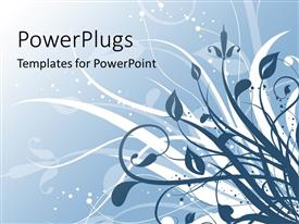 PowerPlugs: PowerPoint template with a beautiful floral depiction with their reflection in the background
