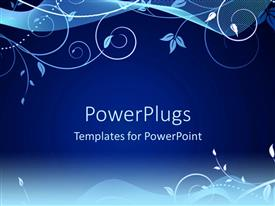 PowerPlugs: PowerPoint template with a beautiful floral design on a blue colored background