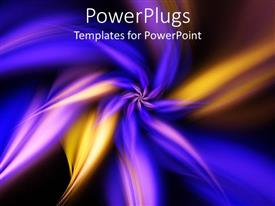 PowerPlugs: PowerPoint template with a beautiful fractal  frame in purple color