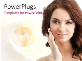 PowerPlugs: PowerPoint template with a beautiful girl in the background