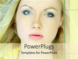 PowerPlugs: PowerPoint template with a beautiful girl with place for text