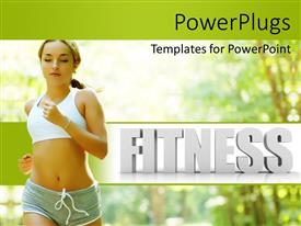 PowerPlugs: PowerPoint template with a beautiful girl running in the forest