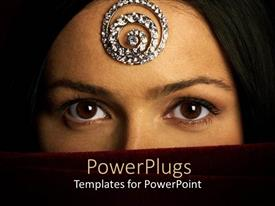 PowerPlugs: PowerPoint template with a beautiful girl with a veil on her face