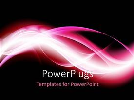PowerPlugs: PowerPoint template with beautiful high energy waves with black color