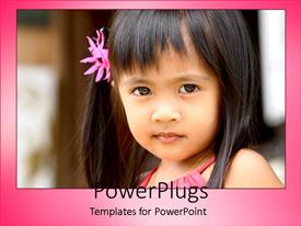 PowerPlugs: PowerPoint template with a beautiful kid with blurred background